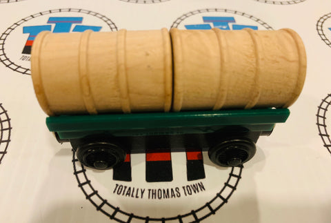 Barrel Car Green with Tan Other Brand Cargo Wooden - Used