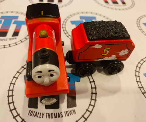 James & Tender Roll and Whistle (2012) Good Condition Wooden - Used