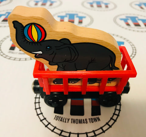 Circus Train with Elephant Wooden - Used