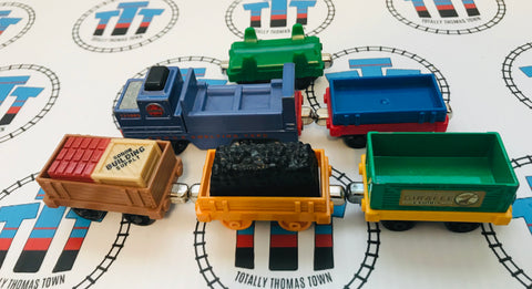 6 Cargo Cars with Assorted Cargo Used - Take N Play