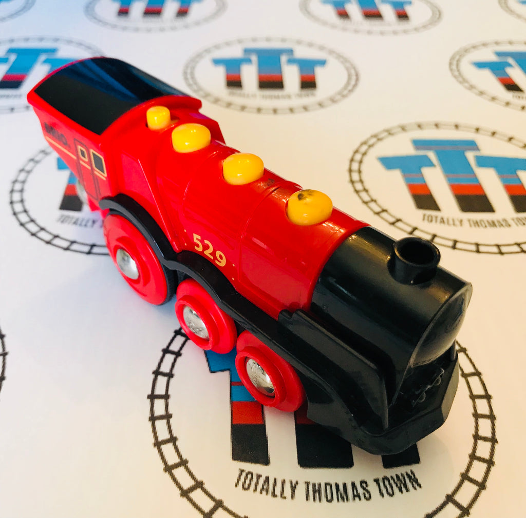 Brio Mighty Red Action Battery 529 Engine Wooden - Totally Thomas Town
