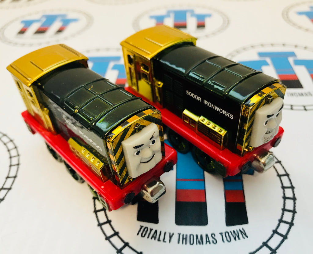 Limited Edition Metallic Iron Arry and Iron Bert (2005) Good Condition Used - Take N Play - Totally Thomas Town