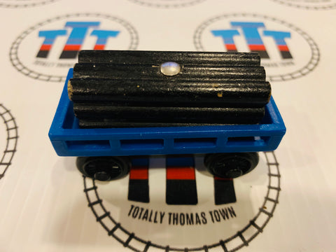 Blue Cargo Car with Other Brand Black Cargo Wooden - Used