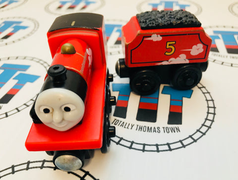 James & Tender Roll and Whistle (2012) Wooden - Used - Totally Thomas Town