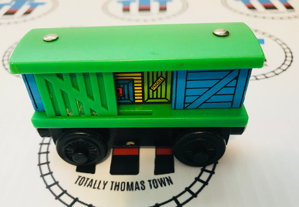 Box Car Green & Blue (2000) Good Condition Wooden - Used - Totally Thomas Town