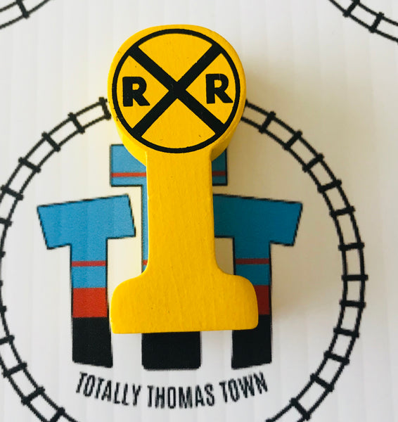 Railroad Crossing Sign Wooden - Used - Totally Thomas Town