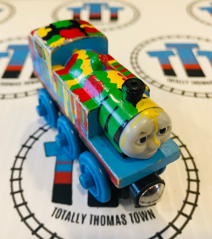 Paint Splattered Thomas (2003) Fair Condition Wooden - Used