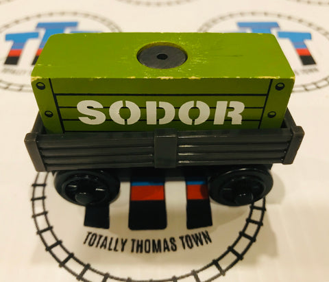Cargo Car Black with Green Cargo Wooden - Used - Totally Thomas Town