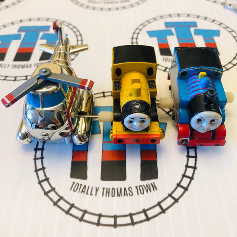 Capsule Plarail Wind Up Fair Condition Train Pack - Used