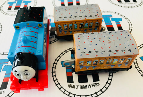 Blue Team Thomas (2013) Good Condition Used - Trackmaster - Totally Thomas Town