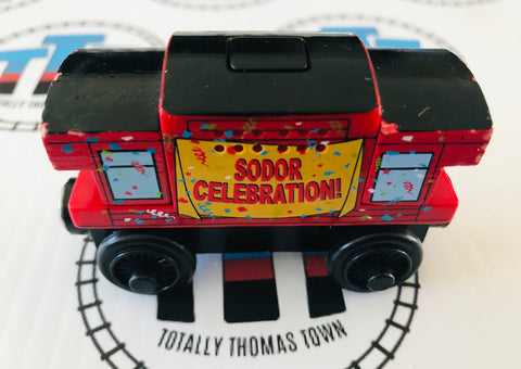 Sodor Day Caboose Musical Caboose (2003) Wooden - Used