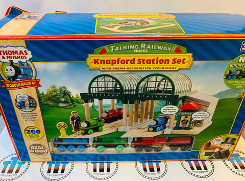 Knapford Station Set with 3 Engines and Engine Recognition Technology Wooden - New in Box