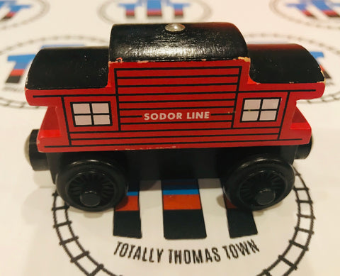 Sodor Line Caboose (2003) Good Condition  Wooden - Used - Totally Thomas Town