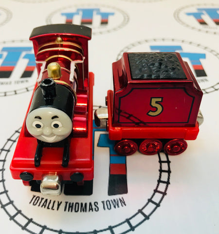 Limited Edition Metallic James and Tender (2002) Good Condition Used - Take N Play - Totally Thomas Town