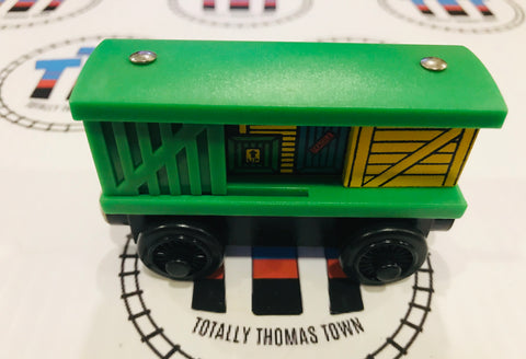 Box Car Green & Yellow (2000) Good Condition Wooden - Used