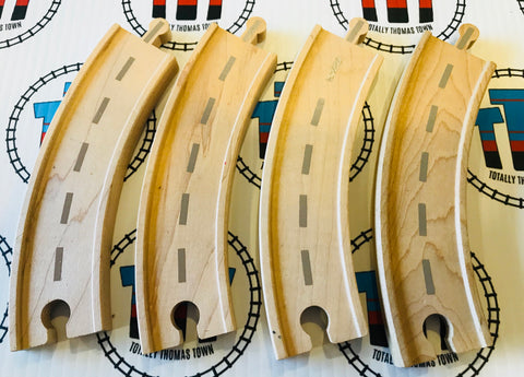 "6.5"" Curved Road Track 4 Pieces - Thomas Brand - Totally Thomas Town"