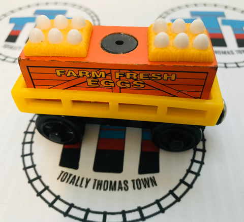 Egg Car Yellow with Egg Cargo (2003) Wooden - Used - Totally Thomas Town