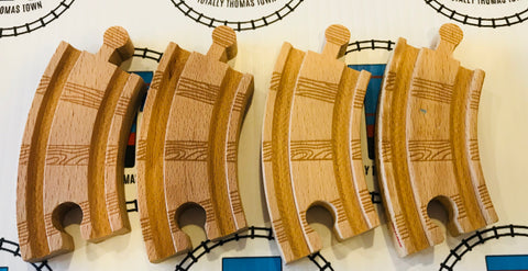 "3.5"" Curved Track 4 Pieces - Thomas Brand - Totally Thomas Town"