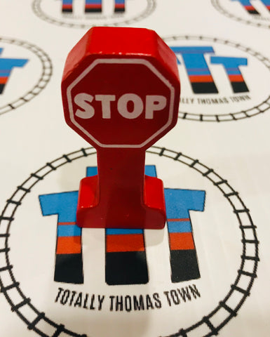 Stop Sign Wooden - Used - Totally Thomas Town
