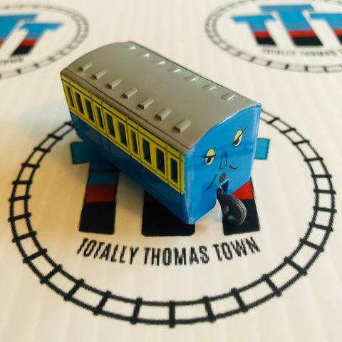 Blue & Yellow Narrow Gauge Coach Pull Along Capsule Plarail - Used
