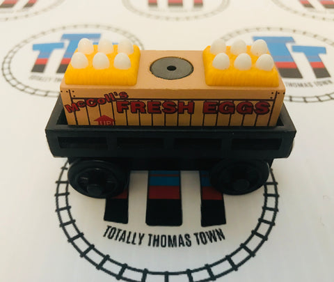 Egg Car Black with Egg Cargo (2003) Wooden - Used - Totally Thomas Town