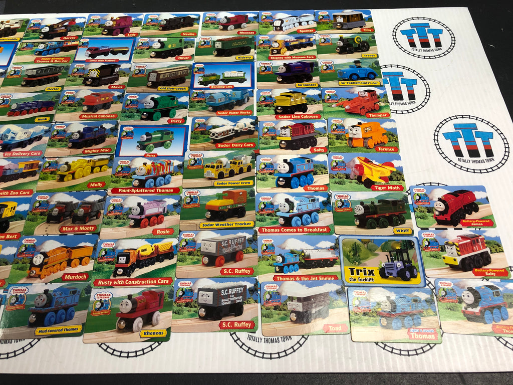 Wooden Railway Character Cards