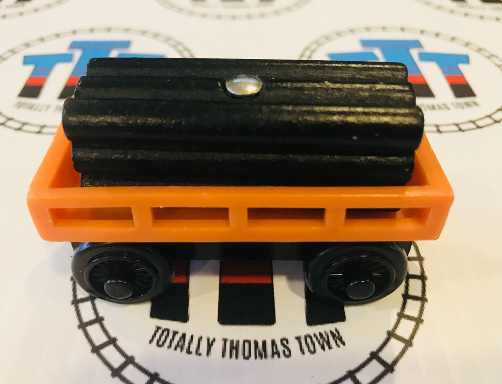 Cargo Car Orange with Black Other Brand Cargo Cargo Wooden - Used - Totally Thomas Town