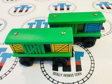 Box Car Green Pair (2000) Good Condition - Used - Totally Thomas Town
