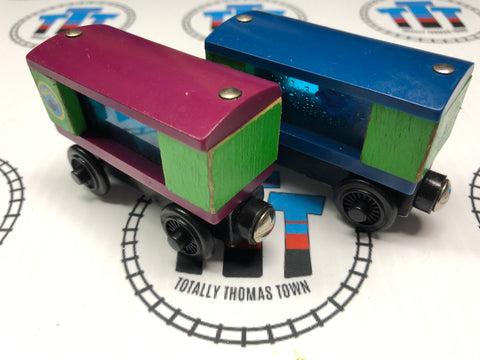 Aquarium Cars Square with Shark and Squid No Water (2001) Wooden - Used - Totally Thomas Town