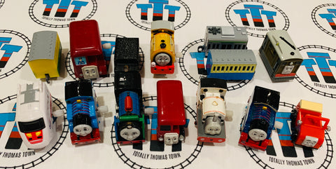 Capsule Plarail Wind-Up and Pull Along (missing stickers some not working) Value Pack