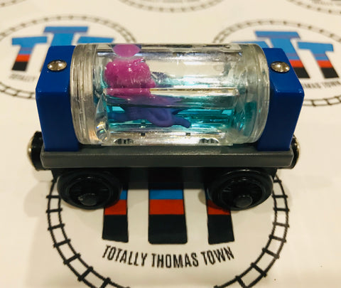 Aquarium Car Round with Squid (2003) Good Condition Wooden - Used - Totally Thomas Town
