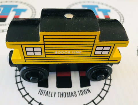 Sodor Line Caboose Yellow (2003) Very Good Condition Wooden - Used
