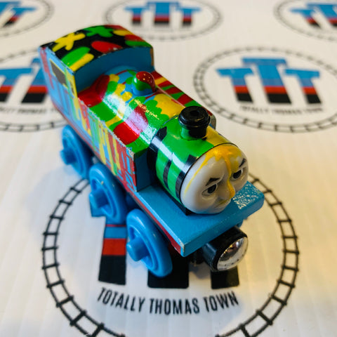 Paint Splattered Thomas (2003) Good Condition Wooden - Used