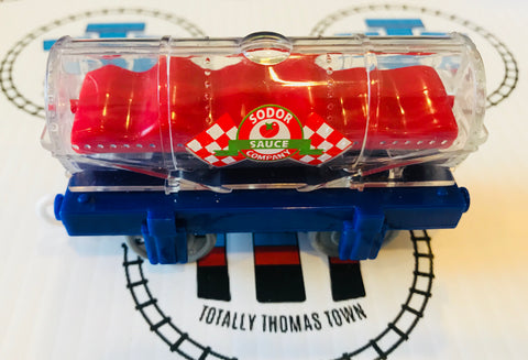 Sodor Pasta Sauce Tanker (2009) Good Condition Used - Trackmaster - Totally Thomas Town