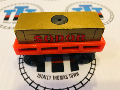 Cargo Car Red with Gold Cargo Wooden - Used