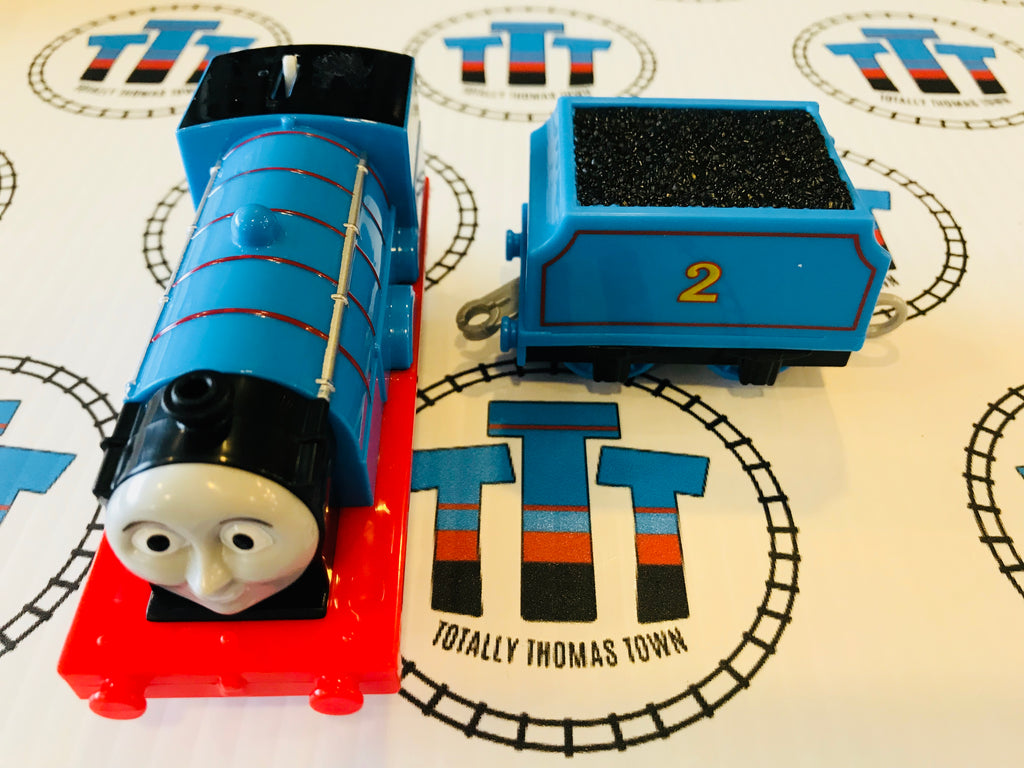 Edward with Tender (2013) Very Good Condition Used - Trackmaster (Mattel 2013) - Totally Thomas Town