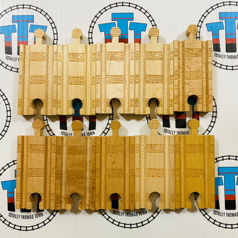"3"" Straight Track Pack (10pcs) Used - Thomas Brand"