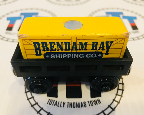 Cargo Car Black with Yellow Cargo Wooden - Used - Totally Thomas Town