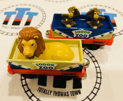 Zoo Cars (2006) Good Condition Used - Take N Play - Totally Thomas Town