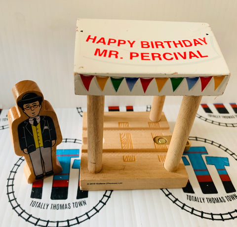Happy Birthday Mr. Percival Tent and Mr. Percival Good Condition Wooden - Used
