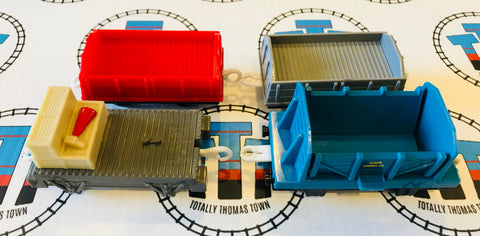 Cargo Flatbed Pack 4 Pieces Used - Trackmaster - Totally Thomas Town