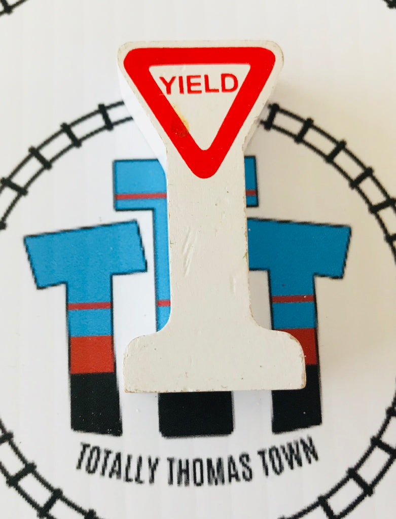 Yield Sign Wooden - Used - Totally Thomas Town