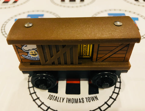 Mr. Jolly's Chocolate Box Car (2003) Wooden- Used - Totally Thomas Town