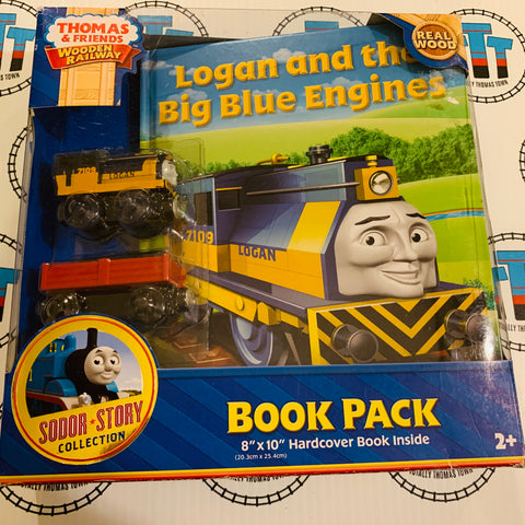 Logan and the Big Blue Engines Book Pack (2012) Good Condition Wooden - Used