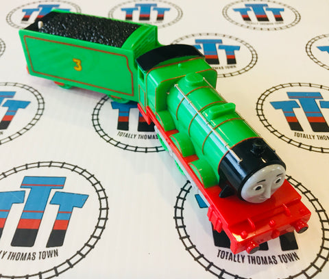Talking Henry with Tender (2010) Good Condition Used - Trackmaster - Totally Thomas Town