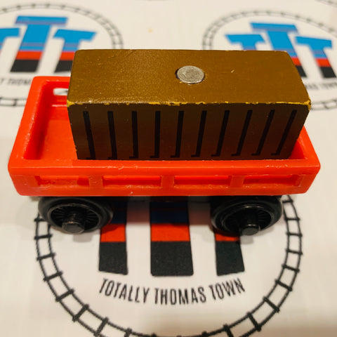 Red or Orange Cargo Car with Other Brand Cargo Wooden - Used