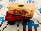 Cargo Car Red with Tan Cargo Wooden - Used - Totally Thomas Town