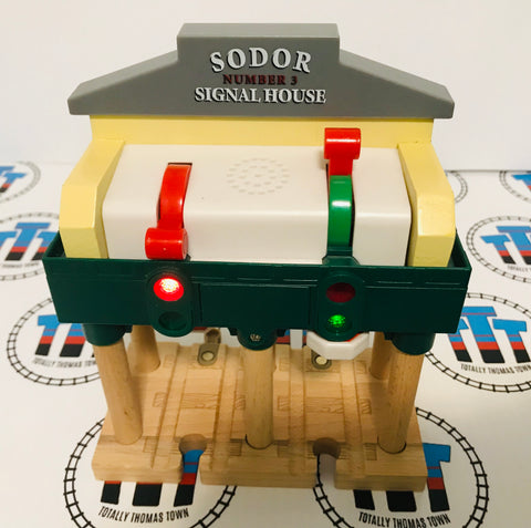 Deluxe Over the Track Signal House Good Condition Wooden - Used - Totally Thomas Town