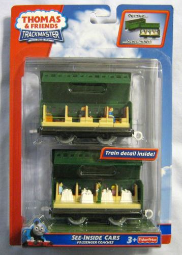 See-Inside Cars Passenger Coaches Trackmaster - New - Totally Thomas Town
