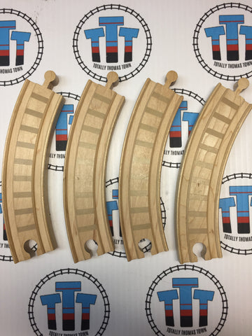 "6.5"" Curved Track 4 Pieces with lines - Other Brand - Totally Thomas Town"